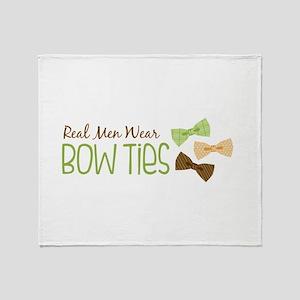 Real Men Wear Bow Ties Throw Blanket