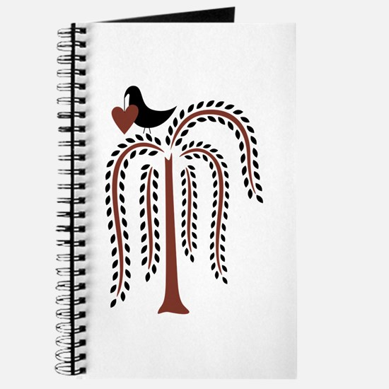 Primitive Country Willow Tree Crow Journal