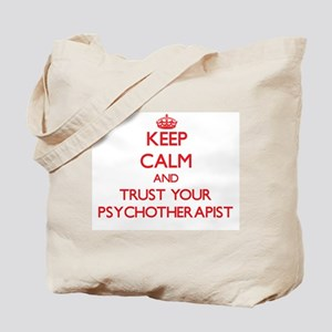 Keep Calm and trust your Psychotherapist Tote Bag
