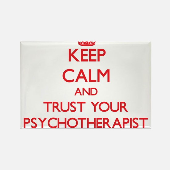Keep Calm and trust your Psychotherapist Magnets