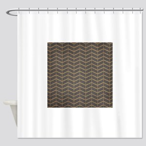 hg-chevronpaper-6 Shower Curtain