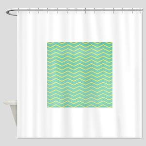 hg-chevronpaper-1 Shower Curtain