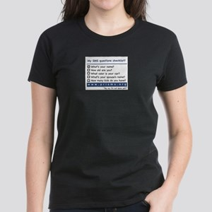 SMS Questions Women's Dark T-Shirt