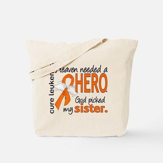 Leukemia Heaven Needed Hero Tote Bag