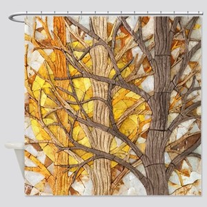 Sun Trees Shower Curtain