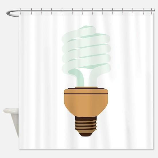 Energy Efficient Light Bulb Shower Curtain