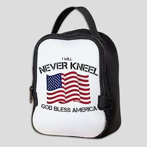 I will never kneel God Bless Am Neoprene Lunch Bag