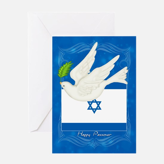 Passover Dove And Olive Branch Card Greeting Cards