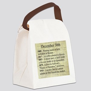 December 30th Canvas Lunch Bag