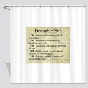December 29th Shower Curtain