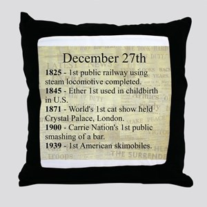 December 27th Throw Pillow