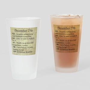 December 27th Drinking Glass