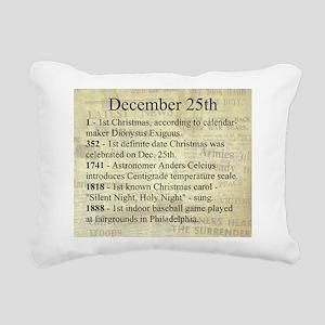 December 25th Rectangular Canvas Pillow