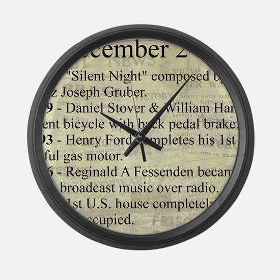 December 24th Large Wall Clock