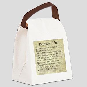 December 23rd Canvas Lunch Bag