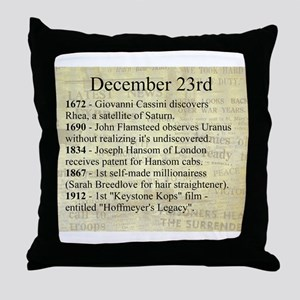 December 23rd Throw Pillow