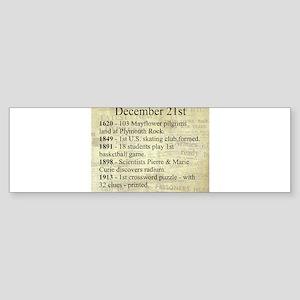 December 21st Bumper Sticker