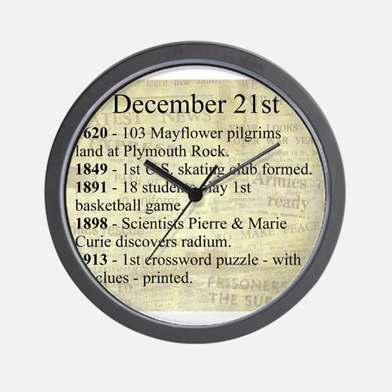 December 21st Wall Clock