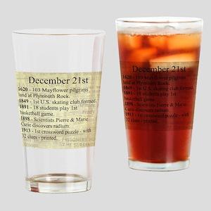 December 21st Drinking Glass