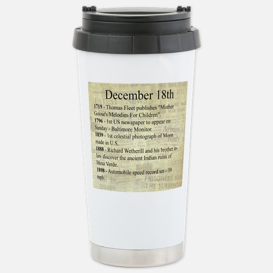 December 18th Travel Mug