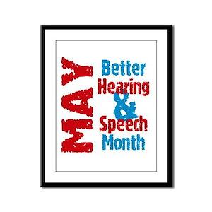 Hearing & Speech Month Framed Panel Print