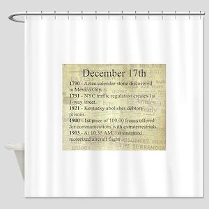 December 17th Shower Curtain
