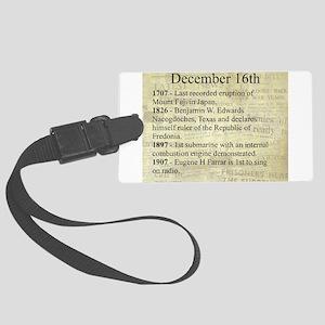 December 16th Luggage Tag