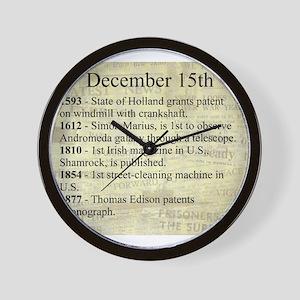 December 15th Wall Clock