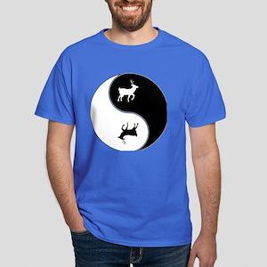 Yin Yang Deer Symbol Dark T-Shirt