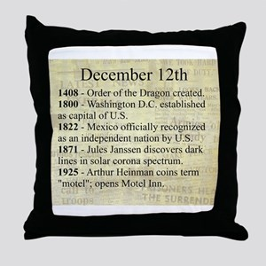 December 12th Throw Pillow