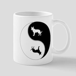 Yin Yang Dog Symbol Mug