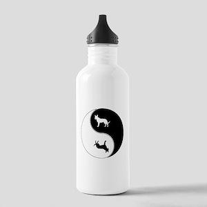 Yin Yang Dog Symbol Stainless Water Bottle 1.0L