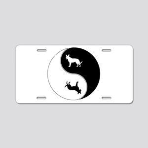 Yin Yang Dog Symbol Aluminum License Plate