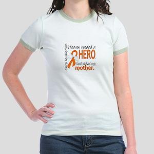 Leukemia Heaven Needed Hero Jr. Ringer T-Shirt