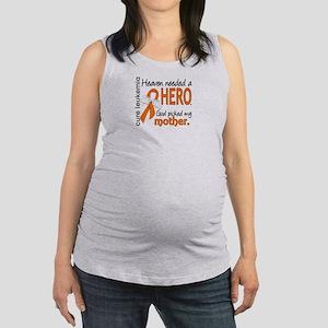 Leukemia Heaven Needed Hero Maternity Tank Top