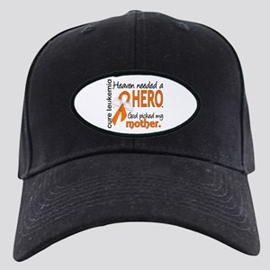 Leukemia Heaven Needed Hero Black Cap