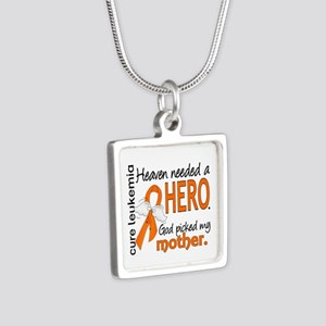Leukemia Heaven Needed Her Silver Square Necklace