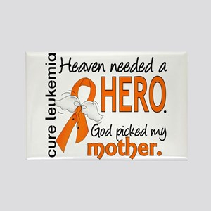Leukemia Heaven Needed Hero Rectangle Magnet