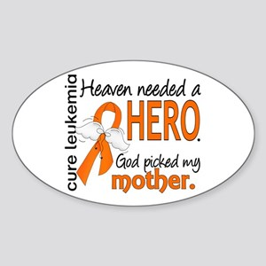 Leukemia Heaven Needed Hero Sticker (Oval)