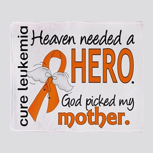 Leukemia Heaven Needed Hero Throw Blanket