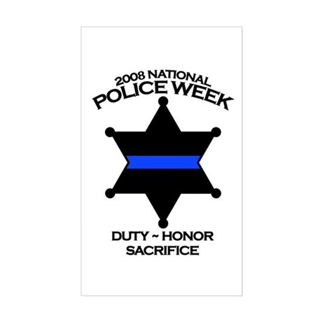 Police Week Sheriff Rectangle Sticker