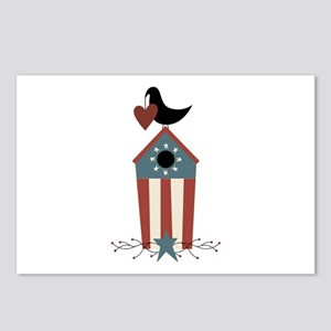 Primitive Country Crow Bird House Postcards (Packa