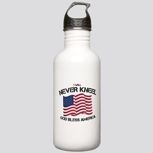I will never kneel God Stainless Water Bottle 1.0L