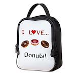 I Love Donuts Neoprene Lunch Bag