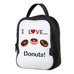 I Love Donuts Neoprene Lunch Bag