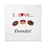 I Love Donuts Queen Duvet