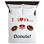 I Love Donuts Queen Duvet