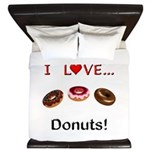 I Love Donuts King Duvet
