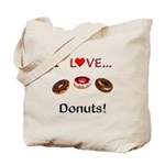 I Love Donuts Tote Bag
