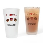 I Love Donuts Drinking Glass